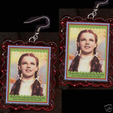 HUGE Funky DOROTHY EARRINGS Wizard Oz Rainbow Novelty Character Costume Jewelry