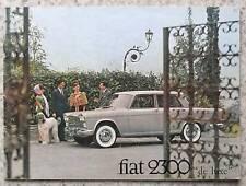 FIAT 2300 De Luxe Car Sales Brochure c1965 #2111