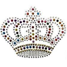 Rhinestone Transfer Hot fix Motif Fashion Design Small crystal crown color mix