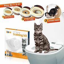 Cat Toilet Training Kit Potty Training Litter Tray with Cat Nip