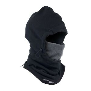 NEW Clam Outdoors 10677 IceArmor Hoodie Full Fleece Facemask - Black/Grey
