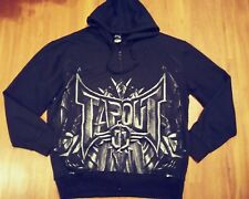 Tapout Men's Black MMA graphic Hoodie Sweat Shirt Long Sleeve Size XL