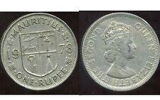 MAURITIUS  - ILE MAURICE 1 one rupee  1978      ( etat )