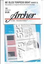 Archer Dry Transfers, ELCO Torpedo Boat Markings 1/35 AR35 239 ST
