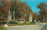 Lafayette Indiana~Indiana State Soldiers Home Entrance Pillars~1950s Postcard