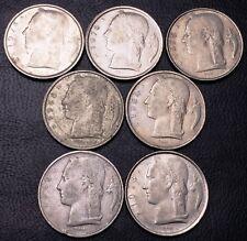 Lot of 7x Belgium 5 Francs Coins - Various Dates