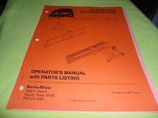 (DRAWER 13) Rhino Servis 350 Rear Blade 35LR Landscape Rake Operators Manual