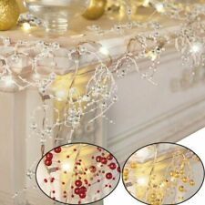 LED String Lights Pearl Beaded  Wire Garland Fairy light Christmas Wedding Decor