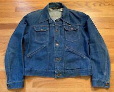 Vintage Wrangler 4 Pockets All Cotton Denim Jean Jacket. Size 42