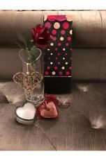 LUXURY Heart 💓 Gift Set - Vase - Real Rose Petals - Heart Plaque - Candle New