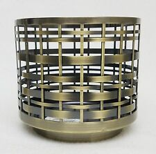 1 Bath Body Works Brushed Metal Weave Large 3-Wick Candle Holder 14.5 oz Sleeve