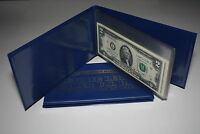 Lot of 2 CURRENCY BILL HOLDER ALBUMS holds 10 BILLS - Your US Dollar Collection