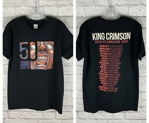 New Gildan King Crimson 2019 Celebration Tour 50 Years t-shirt size men's medium