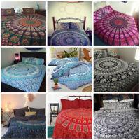 Indian Mandala Bedding Bedspread Hippie Bohemian Tapestry Coverlet Queen/Twin