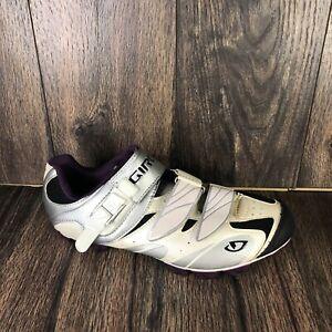 Giro Manta Womens Cycling Mountain Bike Shoes Size 9 US White/Purple