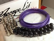 George L's 155 Pedalboard Effects Cable Kit XL .155 Purple / Nickel - 20/20/20