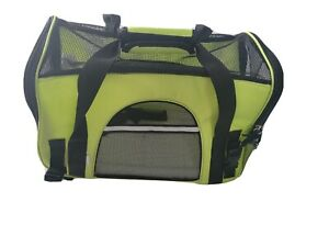 Paws & Pals Sm Pet Carrier neon Airline Dog Cat Soft Side Comfort Travel BagNWT