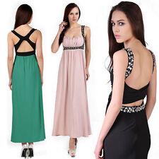 Empire line No Pattern Regular Sleeveless Dresses for Women