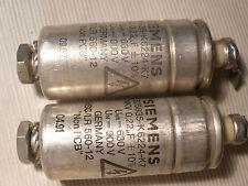 2 x SIEMENS 0.22uF 630 V Capacitor For 2A3 245 50 VT25 VT52 300B SE AMPLIFIER ?