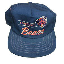 CHICAGO BEARS 80s 90s VTG SnapBack Hat OG Script Logo Split Bar NFL