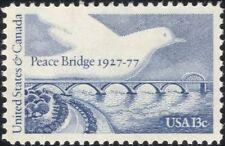 USA 1977 Peace Bridge/Dove/Architecture/Transport/Roads/Birds/River 1v (n45002)