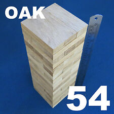 Lot 54 Wooden Stacking Tumbling Tower Like Jenga Blocks Oak Wood Board Game