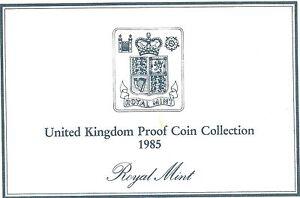 1985 Grande-Bretagne 7 Pièce de Monnaie 2 Page c. O. A.Document Kit