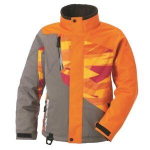 Polaris Youth Boy's Ripper Orange Print Insulated Snowmobile Jacket 2867737XX