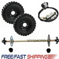 Go Kart Rear Axle Kit+ 2Pcs Wheel Hub+ Brake Assembly Fit ATV Mini Quad Buggy US