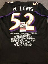 BALTIMORE RAVENS RAY LEWIS AUTOGRAPHED SIGNED STAT JERSEY JSA COA 51dd4d4c3