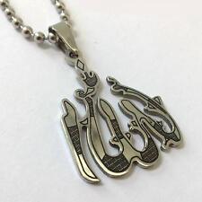 3D Allah pendentif collier islamique Allah Musulman collier