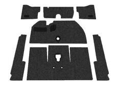Premium VW Front Carpet Kit, Black Loop, w/o Footrest, Beetle 1965-1967