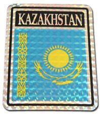 Wholesale Lot 12 Kazakhstan Country Flag Reflective Decal Bumper Sticker