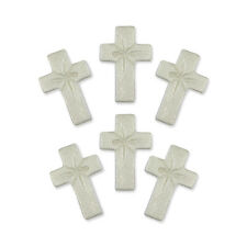 PME Pearl Cross Christian Cup Cake Icing Sugar Edible Sugarcraft Decoration 6/Pk