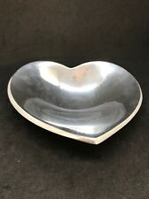 """Nambe Heart Love Bowl 7"""" Silver Metal Designed by Lisa Smith # 785"""