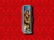 MERMAID PIN UP GIRL VINTAGE 2 GUM COTTON SWAB MAKEUP LIPSTICK CASE HOLDER