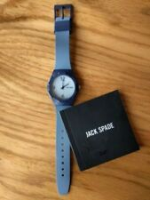 JACK SPADE Blue Watch, silicone band round white dial 40mm 0264 NEW in box Men's