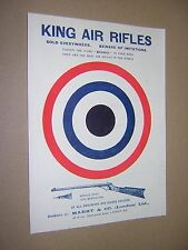 KING AIR RIFLES. ORIGINAL 1909 LARGE ADVERTISING FLYER. COLOUR. DOUBLE SIDED