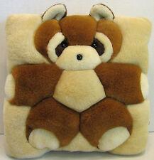 "T.W.I.E. Cute Bear Bedroom Home Decor Pillow Cushion 12""x12"" Plush 1998 Stuffed"