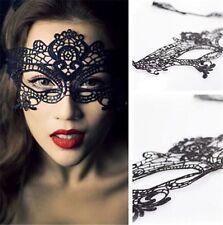 Sexy Elegant Party Ball Eye Half Face Mask Beautiful Party  Black Lace Mask-B