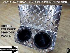 Yamaha Rhino Center Dash Dual Cup Drink Holder Highly Polished Diamond plate