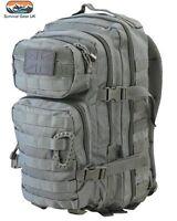 Kombat Grey Small Assault back pack daysack 28 Litre Airsoft Tactical