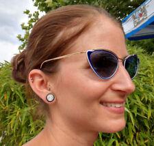 Vintage Sol Amor Cat Eye Women's Sunglasses 1950s Rockabilly blue blau SolAmor