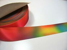 Rainbow Satin Ribbon 1 1/2 inches wide x 10 yards, SF, Schiff Fiesta Multi