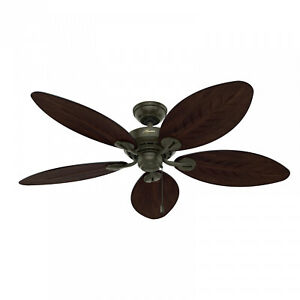 Hunter 54  Bayview Outdoor Ceiling Fan With Pull Chain