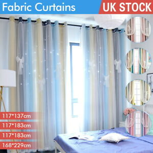 Dreamlike Heavy Thick Thermal Blackout Curtains Eyelet Ring Top Pair + Tie Backs