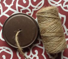 MASON JAR STRING DISPENSER LID - Weathered Bronze Lid with Jute Twine. New