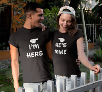 I'm Hers & He's Mine Shirts SET Matching Couples T-Shirts Love Valentines Day