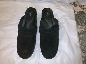 "CROCS ""TRIPLE CROCS COMFORT"" Clog Women's Black Strap Mules Heel Shoes Size 9"