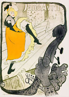 "Toulouse Lautrec Vintage French Art CANVAS PRINT Jane Avril poster 16""X12"""